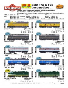 F7A F7B Union Pacific Pennsylvania Burlington CB&Q C&S Great Northern Northern Pacific