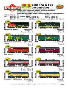 F7A F7B Nationales de Mexico Missouri-Kansas-Texas Ohio Central Western Maryland Alaska RR