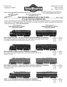 HO F7A & F7B Locomotives