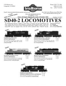 Norfolk & Western Illinois Central Gulf Missouri Pacific Double Eagle Burlington Northern Norfolk Southern Thoroughbred