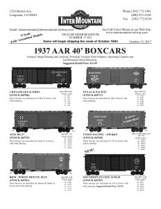 Chesapeake & Ohio ATSF Boston & Maine Minute Man Texas & Pacific Union Pacific Southern Pacific