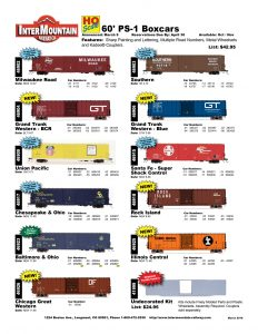 Milwaukee Road Grand Trunk Western Union Pacific Chesapeake & Ohio Baltimore & Ohio Chicago Great Western Southern Santa Fe Rock Island Illinois Central Undecorated Kit