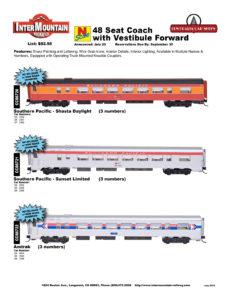 Southern Pacific Shasta Daylight Sunset Limited Amtrak