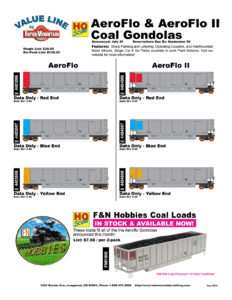 Data Only Red Blue Yellow F&N Hobbies Coal Loads