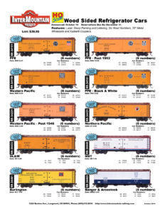 PFE Western Pacific DL&W Burlington Northern Pacific MDT Bangor & Aroostook