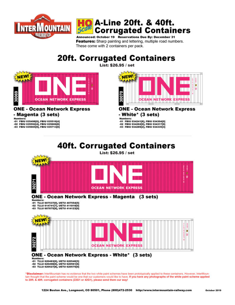 ONE - Ocean Network Express Magenta White