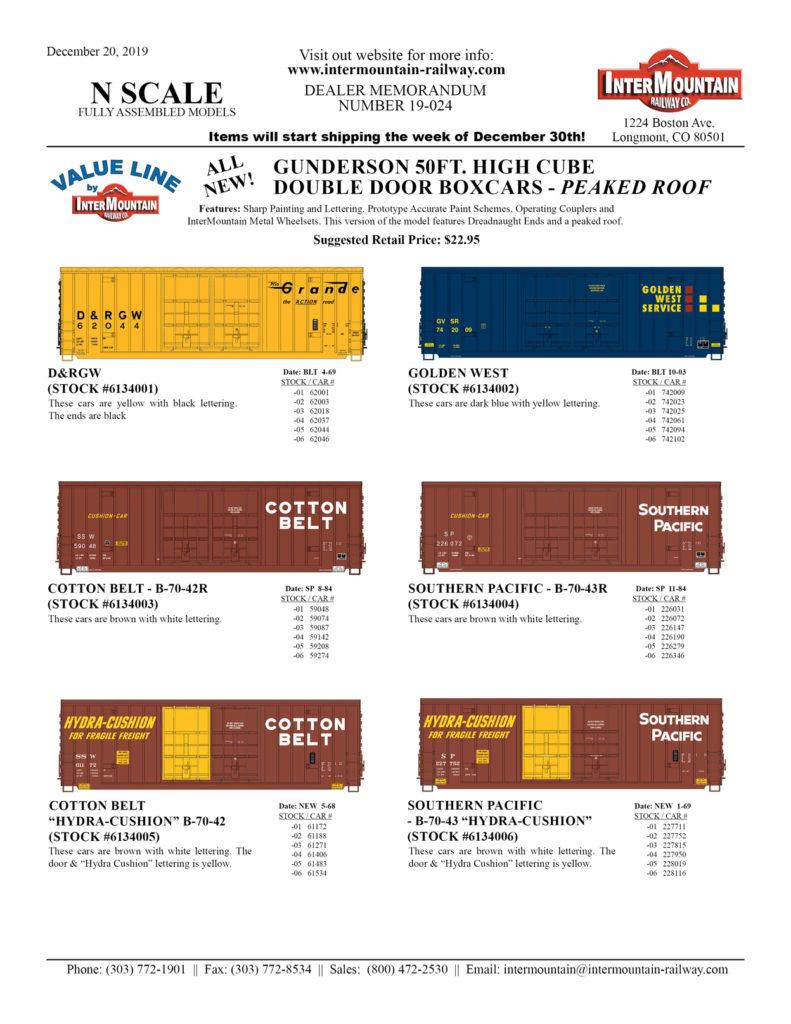 D&RGW Golden West Cotton Belt Southern Pacific
