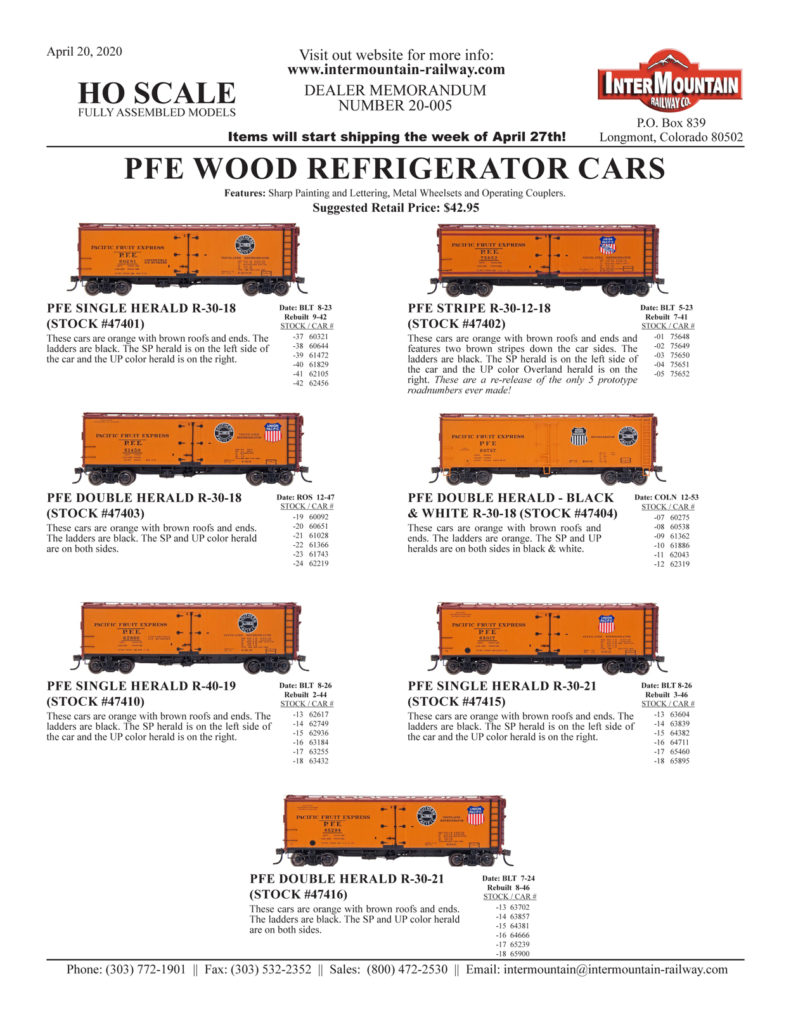 PFE Pacific Fruit Express Southern Pacific Union Pacific SP UP
