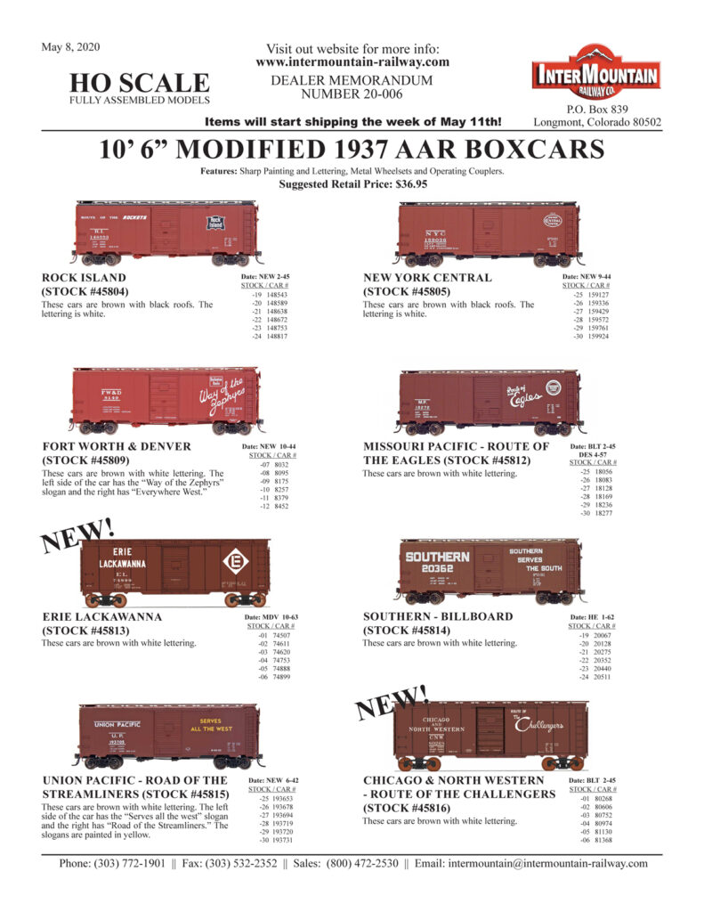 Rock Island New York Central Fort Worth & Denver Missouri Pacific Erie Lackawanna Southern Union Pacific Chicago & Northwestern